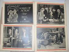 Full set of 8 1923 lobby cards: Ince's A Man of Action w/ Douglass MacLean