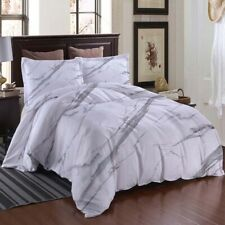 Grey White Simple 3D Printing Duvet Quilt Doona Covers Pillow Case Bedding Sets