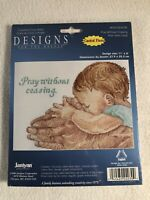 JANLYNN Designs Counted Cross Stitch Kit PRAY WITHOUT CEASING 8 x 11