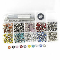 500pcs 5mm Colored Eyelet With Washer Grommet + tool kit leather craft repairing