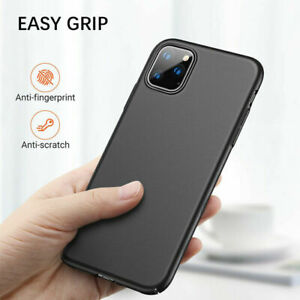 Case For iPhone 11 12 Pro Max XR X XS 7 8 6s Black Gel Shockproof Silicone Cover