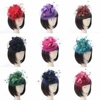 Party Fascinator Hair Accessory Clip Hat Large Flower Lady Wedding Party Fitting