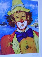 Gérard GOUVRANT (1946)-Lithographie originale-Clown-HANDSIGNED LITHOGRAPH