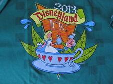 Disneyland 2013 10k Marathon Run Alice Mad Hatter T-Shirt Jersey Size XL New