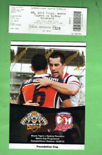#D351. 2012 RUGBY LEAGUE FOUNDATION CUP PROGRAM & TICKET #1328