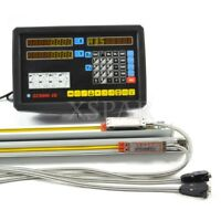 2 Axis DRO Kit Mill Lathe Machine Digital READOUT with Linear Scales Encoder X-