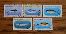 Serie 5 francobolli tematici pesci Saharaui 1997