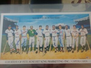 500 Home Run Club Autographed and Inscriptions, Lithograph (11 signatures)