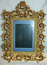 Antique Cast Iron Gold Ormolu Picture Frame Large Ornate