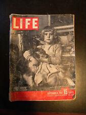 1947 Life Magazine, Ford, Studebaker, Mobil Oil Ad,