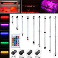 18-130CM RGB LED Aquarium Fish Tank Light Bar Submersible Plant Grow Lamp IP68