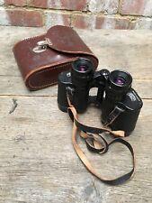 Vintage Carl Zeiss Jena 8x30W DDR Jenoptew Binoculars & Leather Case s/n 5163440