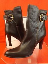 NIB COACH CHESTNUT TUMBLED LEATHER BUCKLE NANCIE HIGH HEEL ANKLE BOOTS 10 ITALY