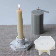 New Concrete Candlestick Epoxy Resin Molds Cement Candle Holder Silicone M MQ