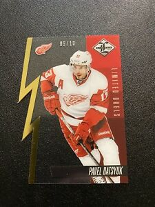 2012-13 Panini Limited Pavel Datsyuk Limited Duals Gold Die Cut SP /10 🔥