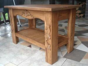 Wooden Handmade Rustic Chunky Coffee Table Solid Wood Table Room Dinning (FIL)