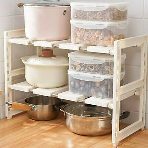 Expandable  Home Organizer Rack 2-Tier Multifunctional Under Sink Organizer Rack