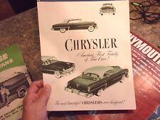 1953 CHRYSLER COUPE SEDAN NEW YORKER CAR BROCHURE SPEC SHEET - LOTLUD