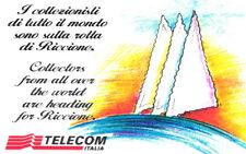 *G 538 C&C 2595 SCHEDA TELEFONICA NUOVA MAGNETIZZATA RICCIONE 96 OCR COME FOTO