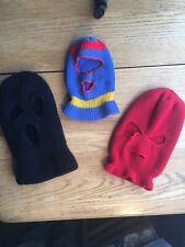 Vtg Ski Mask 3 Hat Lot Skiing Snowmobile Mens Womens Kids Knit Cap Bank Robber