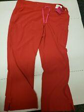 Smitten Bright Red Women's Medical Scrub Bottom Pants - Size Xxl Pink drawstring