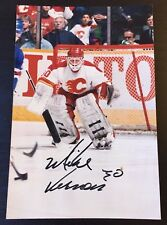 "MIKE VERNON SIGNED 4X6"" GLOSSY HOCKEY PHOTO,Calgary Flames,5x All-Star,Red Wings"