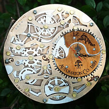 Automaton Skeleton Silverberry wooden steampunk wall clock unique personalized