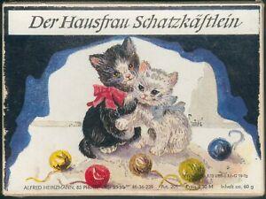 Der Hausfrau Schatzkästlein aus Pirna, ca. 60g Garn, mit Nadel, Zust. I/II