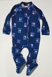 New York Rangers 12M Month Baby Toddler Infant Pajamas Sleeper Creeper NHL Logo