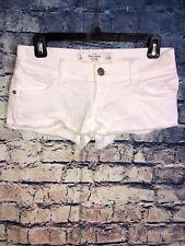 Abercrombie & Fitch Lowrise Stretch Cut-off Frayed Denim Shorts Size 0/25🔥Rare