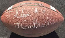 "TORRANCE GIBSON SIGNED NIKE FOOTBALL ""GO BUCKS"" INSCR OHIO STATE BUCKE"