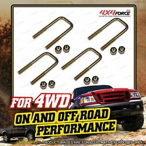 4 x Brand New Front Extra HD Leaf Spring U Bolts for TOYOTA Hilux LN106 RN105