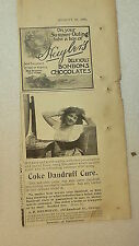 "Antique 1898 Print Advertising, Coke Dandruff Cure ""Hair Dyes Cause Insanity"""