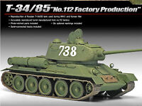 [ACADEMY] T-34/85 No.112 Factory Production Academy #13290  1 /35 Scale