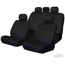 PREMIUM GRADE BLACK VELOUR FABRIC CAR SEAT COVERS SET FOR SUBARU