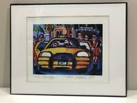 "Tiggy Ticehurst Art Print ""The Stanhope"" 2005 Signed 2006 New York Taxi Giclee"