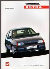 Vauxhall Astra & Belmont 1989-90 UK Market Brochure Merit L LX GL SRi CD GTE 16v
