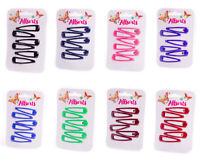 6pc Bendies Sleepies Hair Snap Clip Slides Girls School Uniform Colours Hairclip