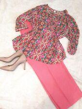 Women Clothing Plus Lot (2pc) Spring/Summer Multicolor Blouse Dress Pants 16 /18