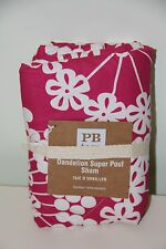 *NEW* Pottery Barn Teen Pink Dandelion Super Pouf Sham Pillow Cover Case