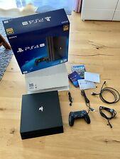 Sony PS4 Pro 1TB Jet Schwarz Spielekonsole CUH-7216B , OVP, TOP! + Spiel