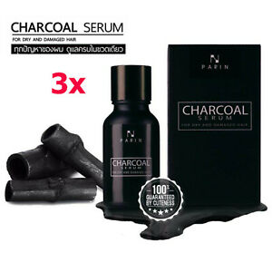 3X Parin Charcoal Special Serum for Nourishing Hair Treatment Dry Damaged 15ml