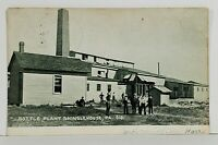 Shinglehouse Pa BOTTLE PLANT with WORKERS udb to Tioga NY Postcard N10