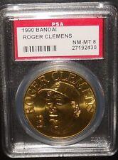 PSA 8 NM-MT 8 - Roger Clemens 1990 Bandai Baseball Coins Boston Red Sox