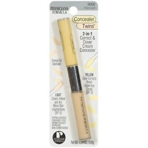 Physicians Formula Gentle 2-in-1 Correct Cover Concealer Twins 3056 Yellow Light