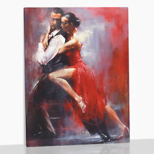Argentine Tango Couple Dancers Dancing XL Large Box Canvas Print Pedro Alvarez