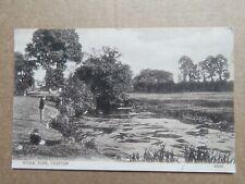 Vintage 1908 Taunton River Tone Man Fishing Real Photo Postcard - Taunton cancel