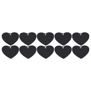 Mini Heart Hanging Ornament Wooden Chalkboard Gift Price Tags DIY For Home Decor