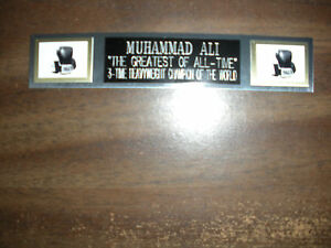 MUHAMMAD ALI (BOXING) NAMEPLATE FOR SIGNED GLOVES/TRUNKS/PHOTO DISPLAY