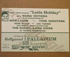 Vintage Original Ticket Stub - Latin Holiday Mike Laure Thee Midniters Palladium